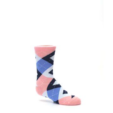 Image of Pink Blue Junior Groomsmen Kid's Dress Socks (side-1-26)