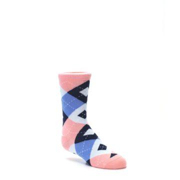 Image of Pink Blue Junior Groomsmen Kid's Dress Socks (side-1-27)