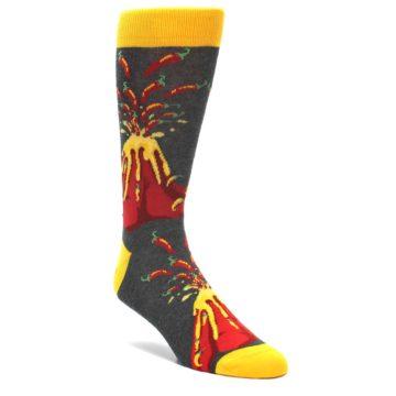 Red-Lava-Spice-Volcano-Mens-Dress-Socks-Statement-Sockwear