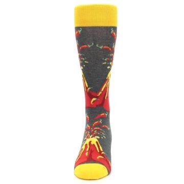 Image of Red I Lava Spice Volcano Men's Dress Socks (front-05)
