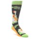 Image of Green Ducks Quacking Me Up Men's Dress Socks (side-1-front-01)
