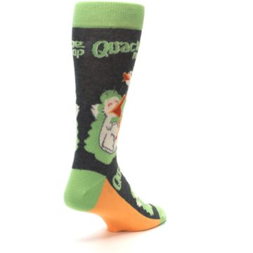 Image of Green Ducks Quacking Me Up Men's Dress Socks (side-1-back-21)