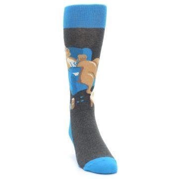 Image of Blue Kangaroo Pouch Potato Men's Dress Socks (side-1-front-03)
