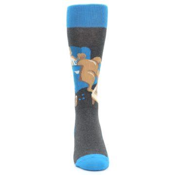 Image of Blue Kangaroo Pouch Potato Men's Dress Socks (front-04)