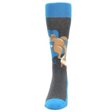Image of Blue Kangaroo Pouch Potato Men's Dress Socks (front-05)