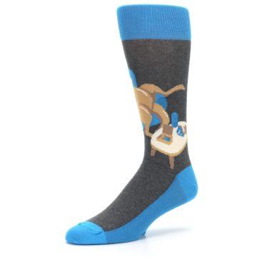 Image of Blue Kangaroo Pouch Potato Men's Dress Socks (side-2-09)