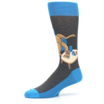 Image of Blue Kangaroo Pouch Potato Men's Dress Socks (side-2-10)