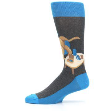 Image of Blue Kangaroo Pouch Potato Men's Dress Socks (side-2-11)