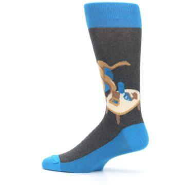 Image of Blue Kangaroo Pouch Potato Men's Dress Socks (side-2-12)
