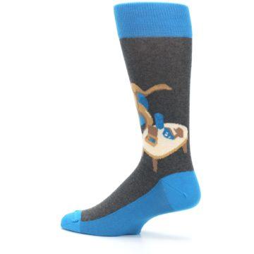 Image of Blue Kangaroo Pouch Potato Men's Dress Socks (side-2-13)