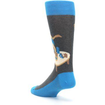 Image of Blue Kangaroo Pouch Potato Men's Dress Socks (side-2-back-15)