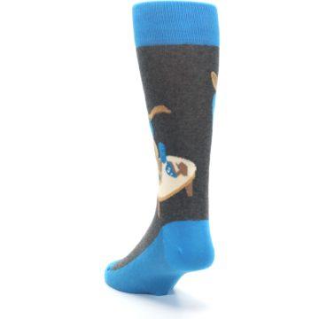 Image of Blue Kangaroo Pouch Potato Men's Dress Socks (side-2-back-16)