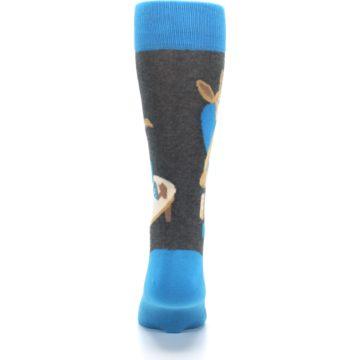 Image of Blue Kangaroo Pouch Potato Men's Dress Socks (back-18)