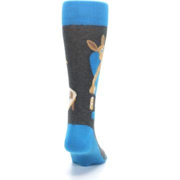 Image of Blue Kangaroo Pouch Potato Men's Dress Socks (back-19)