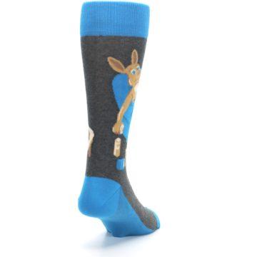 Image of Blue Kangaroo Pouch Potato Men's Dress Socks (side-1-back-20)