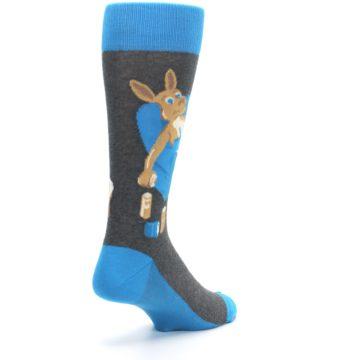 Image of Blue Kangaroo Pouch Potato Men's Dress Socks (side-1-back-21)