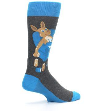 Image of Blue Kangaroo Pouch Potato Men's Dress Socks (side-1-23)