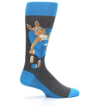 Image of Blue Kangaroo Pouch Potato Men's Dress Socks (side-1-24)