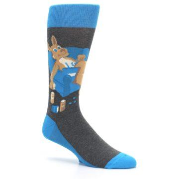 Image of Blue Kangaroo Pouch Potato Men's Dress Socks (side-1-26)