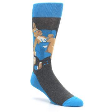 Image of Blue Kangaroo Pouch Potato Men's Dress Socks (side-1-27)