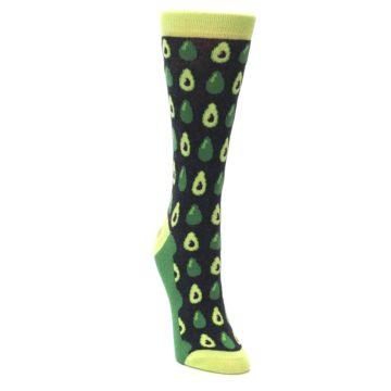 Image of Green Gray Avocados Women's Dress Socks (side-1-front-03)