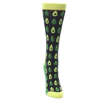 Image of Green Gray Avocados Women's Dress Socks (front-04)