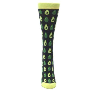 Image of Green Gray Avocados Women's Dress Socks (front-05)