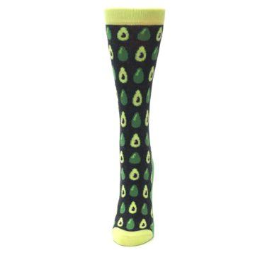 Image of Green Gray Avocados Women's Dress Socks (side-2-front-06)