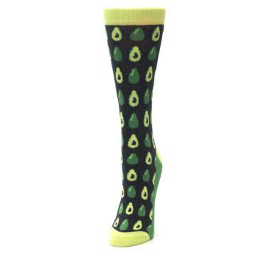 Image of Green Gray Avocados Women's Dress Socks (side-2-front-07)