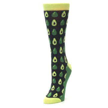 Image of Green Gray Avocados Women's Dress Socks (side-2-front-08)
