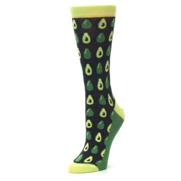 Image of Green Gray Avocados Women's Dress Socks (side-2-09)
