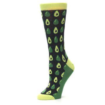 Image of Green Gray Avocados Women's Dress Socks (side-2-10)