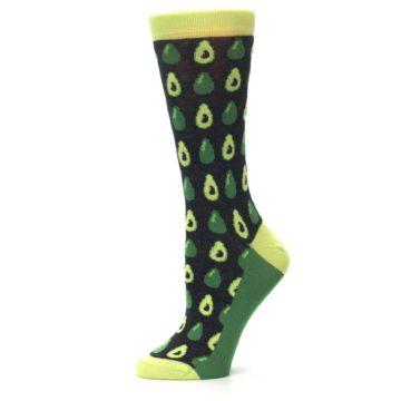 Image of Green Gray Avocados Women's Dress Socks (side-2-11)