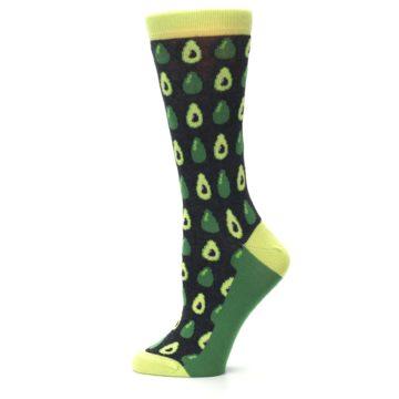 Image of Green Gray Avocados Women's Dress Socks (side-2-12)