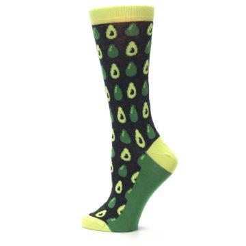 Image of Green Gray Avocados Women's Dress Socks (side-2-13)