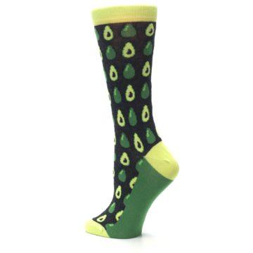 Image of Green Gray Avocados Women's Dress Socks (side-2-back-14)
