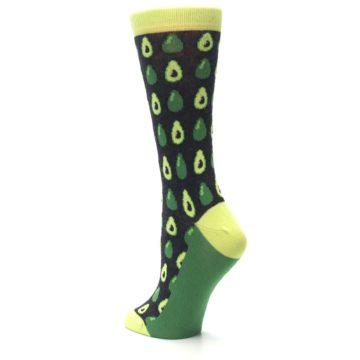 Image of Green Gray Avocados Women's Dress Socks (side-2-back-15)