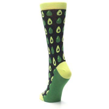 Image of Green Gray Avocados Women's Dress Socks (side-2-back-16)
