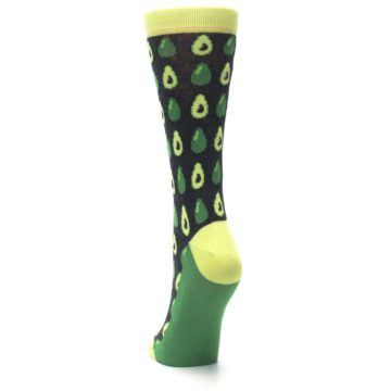 Image of Green Gray Avocados Women's Dress Socks (back-17)