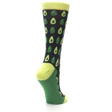 Image of Green Gray Avocados Women's Dress Socks (side-1-back-22)