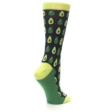 Image of Green Gray Avocados Women's Dress Socks (side-1-23)