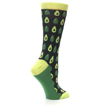 Image of Green Gray Avocados Women's Dress Socks (side-1-24)
