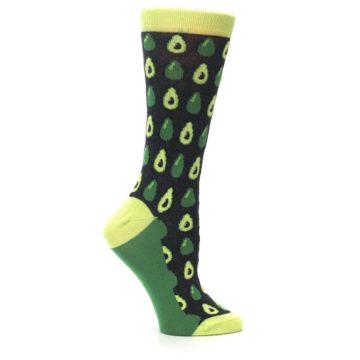 Image of Green Gray Avocados Women's Dress Socks (side-1-25)