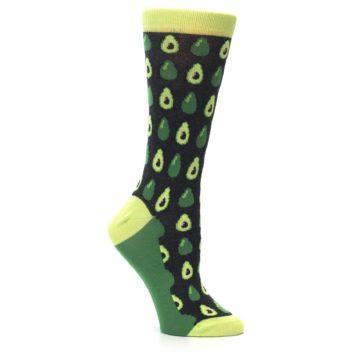 Image of Green Gray Avocados Women's Dress Socks (side-1-26)