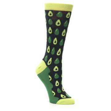 Image of Green Gray Avocados Women's Dress Socks (side-1-27)