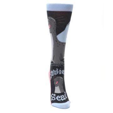 Image of Gray Sealiest Seal Women's Dress Socks (front-04)