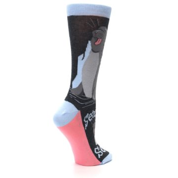 Image of Gray Sealiest Seal Women's Dress Socks (side-1-23)