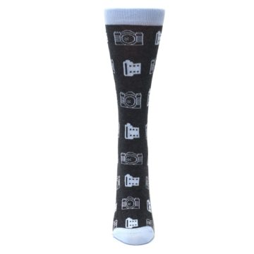 Image of Blue Charcoal Photography Camera Film Women's Dress Socks (front-05)