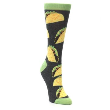 Image of Yellow Green Tacos Women's Dress Socks (side-1-front-02)