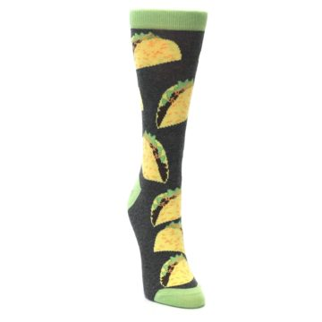 Image of Yellow Green Tacos Women's Dress Socks (side-1-front-03)